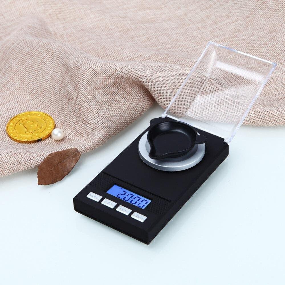 Portable Mini 20g/0.001g 50g/0.001g Digital Scale LCD Electronic Capacity Balance Diamond Jewelry High Precision Pocket Scale