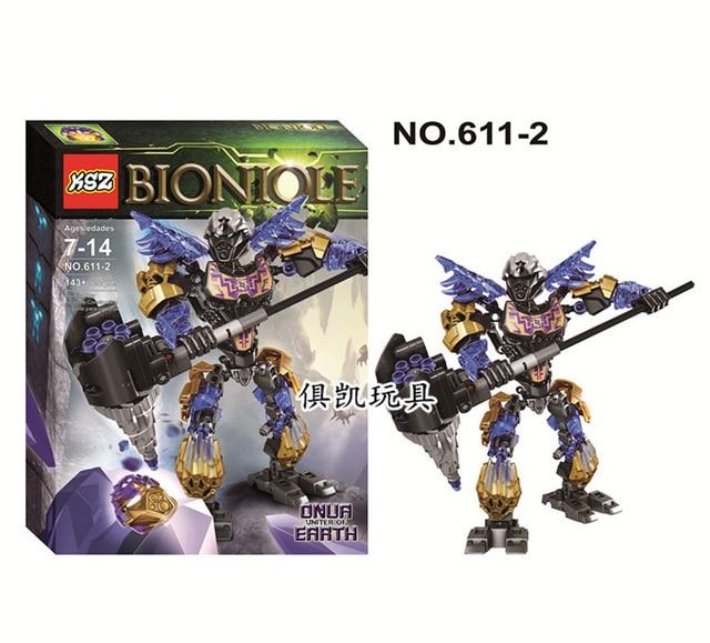 Bionicle Biochemical Warrior Mask of Light Onua Earth Building Block Figure Toys