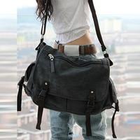 Unisex Men Messenger Bags High Quality Retro Canvas Leather Big Shoulder Bag Causal Laptop Travel Bags Women Crossbody Bag