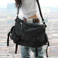 Unisexe hommes Messenger sacs haute qualité rétro toile cuir grand sac à bandoulière casual ordinateur portable voyage sacs femmes sac à bandoulière