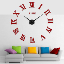 Cutlery Metal Kitchen Wall Clock Horloge 3d Diy Acrylic Mirror Stickers Home Decoration Clocks European Style Watch