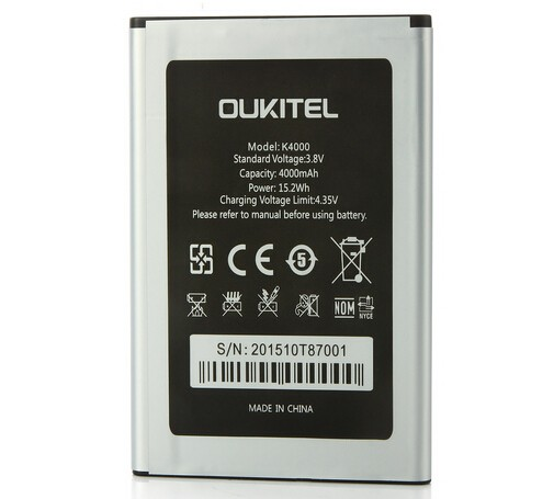 Nouveau Oukitel K4000 Batterie D'origine de Haute Qualité 4000 mAh Batterie de Remplacement Pour Oukitel K4000 Téléphone Intelligent