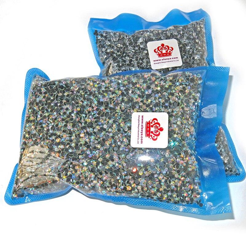 SS6-SS34 7Sizes Large Quality Wholesale Hotfix Rhinestone DMC Crystal Clear Strass Hot Fix Rhinestones 800 Gross Quantity B1098
