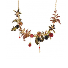 Enamel Vintage Crystal Flower Alloy Necklace & Pendant Choker  Mulberry Blackberry Clavicle Chain Statement Necklace Collar