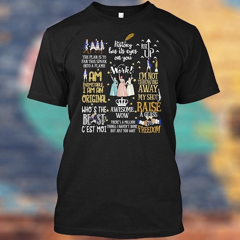 Summer Casual T Shirts Hamilton Musical Man Fashion Cotton
