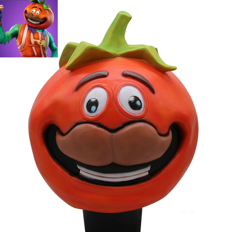 ZSQH Fortress night game Battle Royale Tomato Head Crown latex mask Halloween Cosplay fortnited KIDS CHILDREN BOY GIRL COSTUME