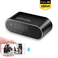 Remote Control Mini Clock Camera Alarm P2P Livecam IR Night Vision Wifi Cam IP 720P Mini DV DVR Camcorder Wifi Invisible hidden