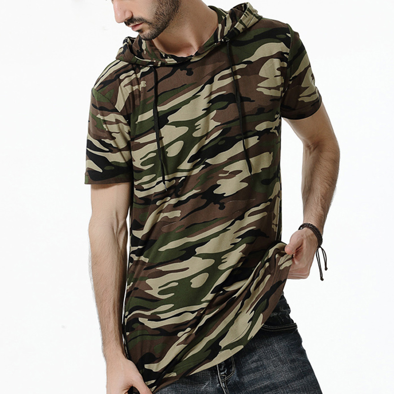 men 39 s camouflage t shirt 2018 summer loose casual cotton. Black Bedroom Furniture Sets. Home Design Ideas