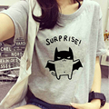 2017 New Pink/White/Gray women's Bat t shirt Printed 3d T-Shirt femme Lovely Camisetas Summer Style funny Kawaii tee shirt tops