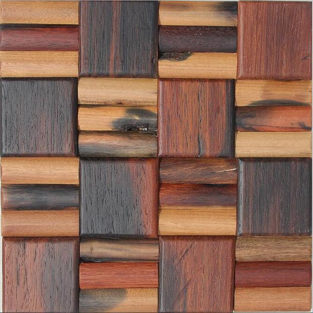 Square Wood Floor Tiles Intended 2square Meterspack Natural Wood Mosaic Tiles Ancient Sea Floor Scales For Kitchen Home