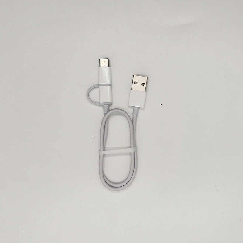 30 см оригинальный xiaomi 2 в 1 Кабель powerbank mi cro USB типа c для redmi note 7 6 pro mi 8 se lite pro mi x 3 2 s a1 a2 pocophone f1