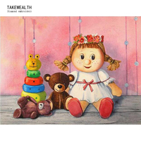 5d Dolls And Bears Diamond Embroidery Cross Stitch DIY Diamond Painting Needlework Rhinestones Round Drill Home
