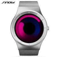 SINOBI Mens Watches Top Brand Luxury Full Steel Mesh Watch Men Watch Fashion Aurora Men S