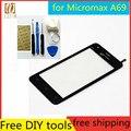 Ferramentas + tela original novo toque para micromax bolt a69 sensor capacitivo de vidro para painel de toque de tela micromax bolt a69 preto