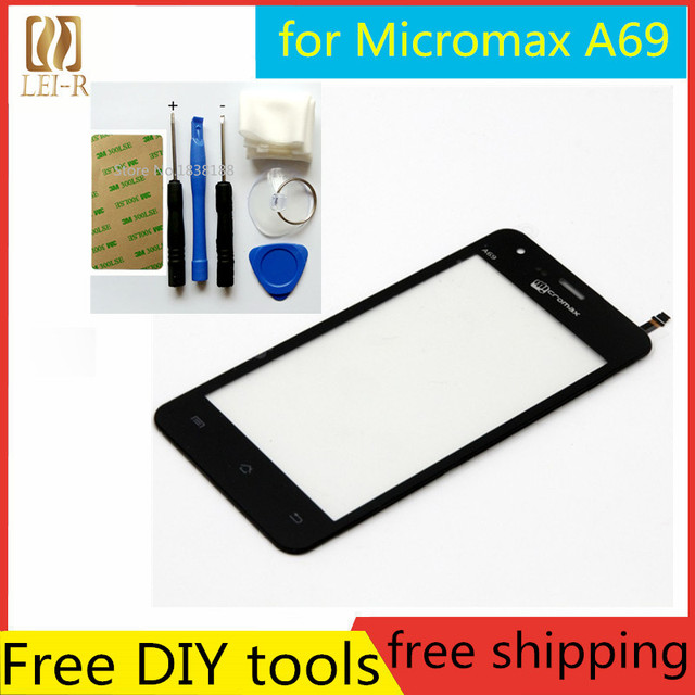 Tools+Original New Touch Screen For Micromax Bolt A69 Glass Capacitive sensor For Micromax Bolt A69 Touch Screen panel Black