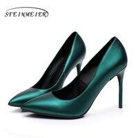 Oferta ¡Despacho de ventas! Zapatos de tacón alto para mujer, zapatos sexis a la moda de 12 cm, color negro, azul, US4.5, zapatos de tacón de boda con boca baja para fiestas