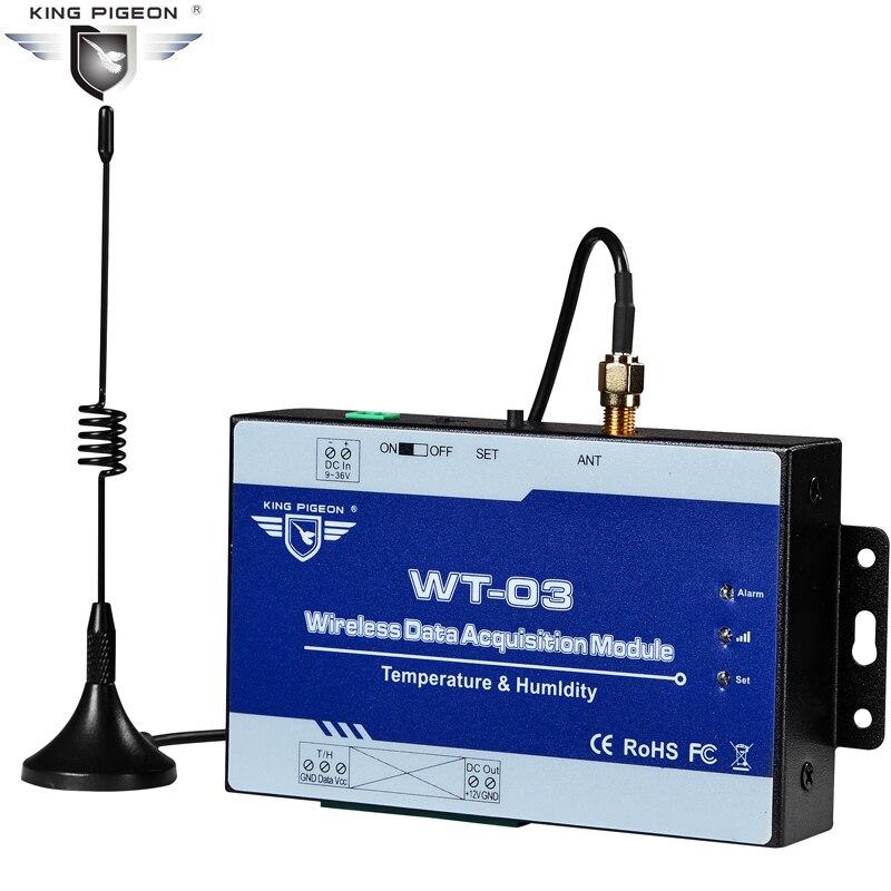 Module d'acquisition de données sans fil Module de Transmission 433 Mhz LoRa IoT 1 entrée Temp + humidité prend en charge la WT-03 Modbus RTU