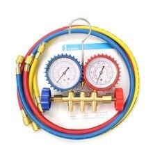Conjunto de Herramientas de Reparación de aire Acondicionado y Refrigeración De Manómetros de Carga Para R134A R12 R22 R404z