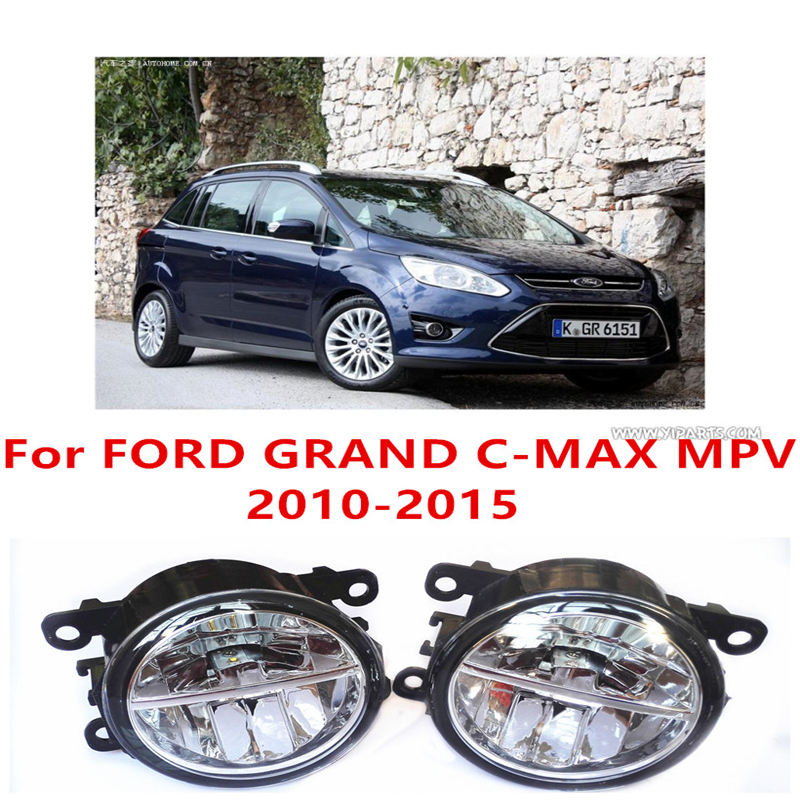 For FORD GRAND C-MAX MPV  2010-2015  10W Fog Light LED DRL Daytime Running Lights Car Styling lamps коврики в салон ford grand c max 2010