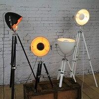 Творческий штатив прожектор Лофт промышленность страны старинные напольные Лампы для мотоциклов с Edison лампы гостиная светильники