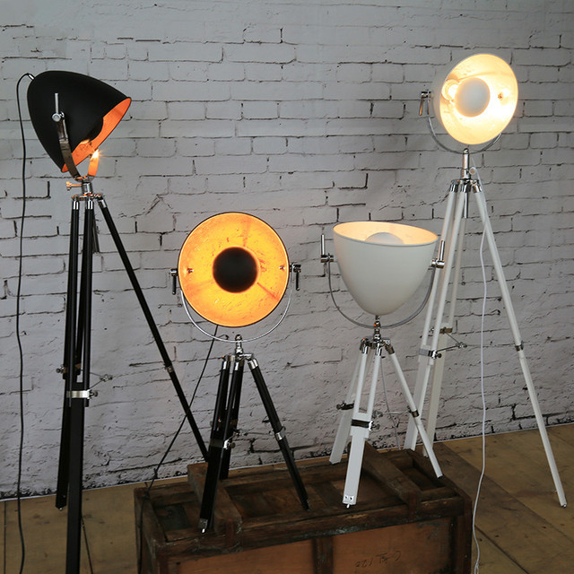 Creative tripod searchlight loft country industry vintage floor creative tripod searchlight loft country industry vintage floor lamps with edison bulbs living room light fixtures aloadofball Images