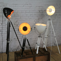 Creative Tripod Searchlight loft country industry vintage floor Lamps with Edison bulbs living room light fixtures
