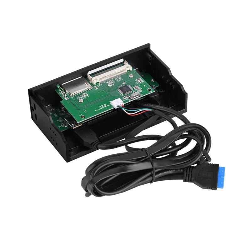 5.25 inch Drive bay Multifunctionele Interne Kaartlezer USB eSATA Dashboard PC Voorpaneel Ondersteunt M2 MSO SD MS XD 64G Cf-kaart