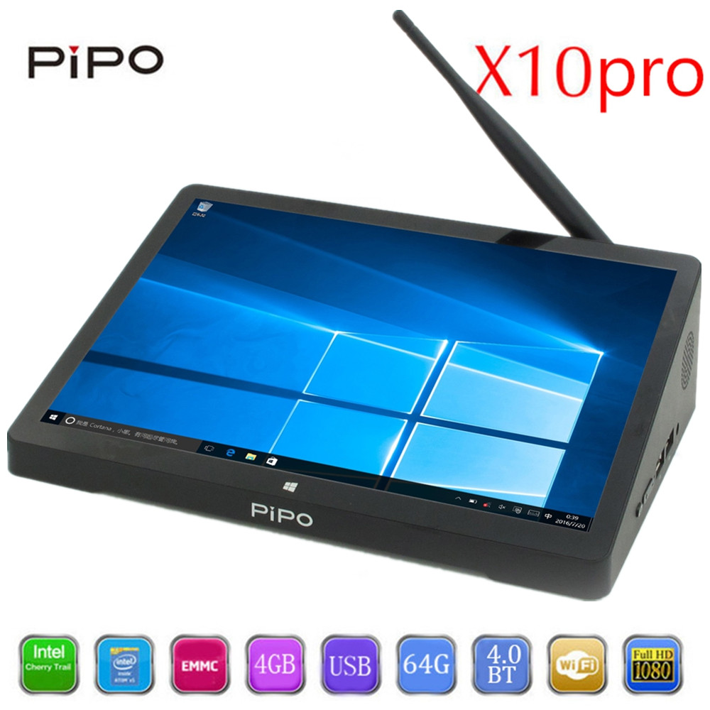 PIPO X10 pro TV Box 10.8 inch IPS Mini PC Windows 10 Andriod 5.1 Intel Cherrytrail Z8350 WiFi Bluetooth4.0 HDMI 4GB RAM 64G ROM pair of stunning solid color hollow out earrings for women