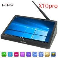 PIPO X10 pro TV Box 10.8 inch IPS Mini PC Windows 10 Andriod 5.1 Intel Cherrytrail Z8350 WiFi Bluetooth4.0 HDMI 4 GB RAM 64G ROM