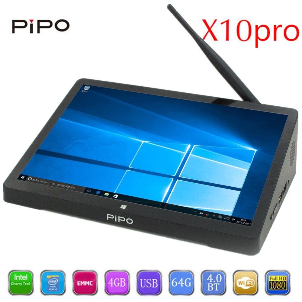 PIPO X10pro Caixa De TV 10.8 polegada IPS Mini-pc com Windows 10 Andriod 5.1 Intel Cherrytrail Z8350 WiFi Bluetooth4.0 HDMI 4 GB RAM 64G ROM