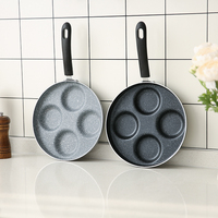 Casting Iron Pan Stone Layer Frying Pot Hamburg Bean Cake Gas Cooker 24 Cm Breakfast Fried
