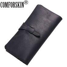 Premium 100% Cow Leather Multi-Card Bit Men Wallet 2017 Brand Design Vintage Hasp Zipper Wallet Clutch Bags Card Wallet For Men недорго, оригинальная цена