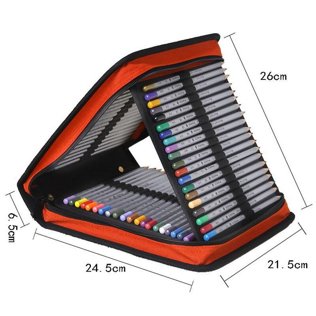 Роскошный школьный пенал Оксфорд с 120 отверстиями, большой пенал, складной пенал на молнии, пенал, сумка, многофункциональная сумка, канцелярские принадлежности