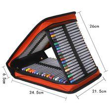 Luxury School Pencil Case Oxford 120 Holes Large Penal Pencilcase Folding Zipper Pen Case Box Bag Multifunction Pouch Stationery
