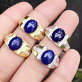 F        925 sterling silver with male lapis ring