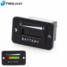 10 Segment LED 12V 24V Battery Indicator Meter Gauge Coulombmeter for Car,Golf Cart,Yacht,RV,Motorcycle,Forklift Etc.