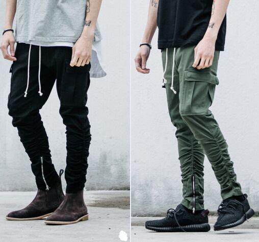 a7c0577bc7e2 2016 new pant hip hop kanye clothing harem fashion green black 30-36 chinos