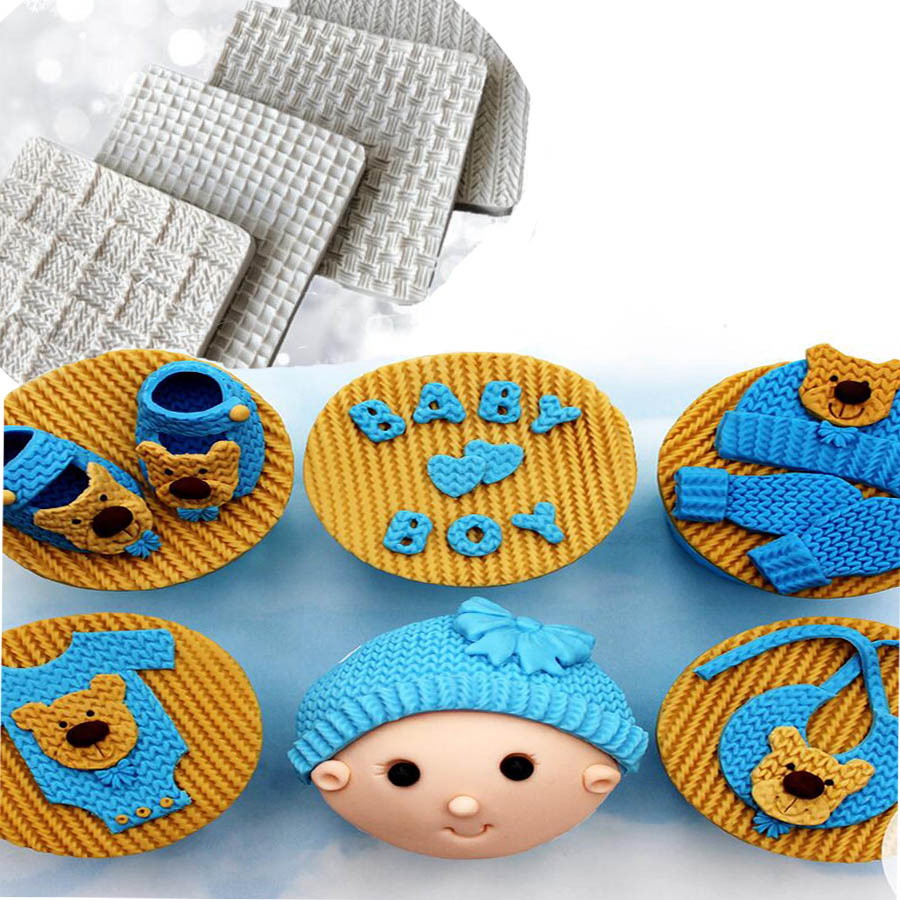 1pc Many Kinds Of Sweater <font><b>thread</b></font> <font><b>Shaped</b></font> series, flip sugar cake mold For Cake Decorate