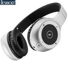 J1 Jesbod Bluetooth auriculares auriculares inalámbricos 3D estéreo de auriculares con micrófono tf 3.5 AUX para iphone xiaomi samsung ordenador