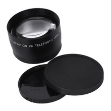 For Canon DSLR 58mm 2X Telephoto Lens for Canon 7D II 60D 550D 600D 650D 700D1100D 5D III DSLR Camera Lens цена и фото