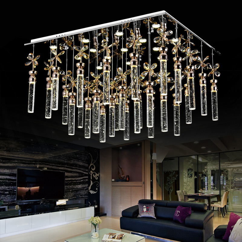 Super simple bubble crystal column living room lamp bedroom chandelier led creative fashion modern crystal lighting fixture led