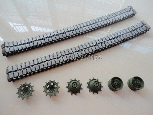 8pcs henglong heng long 3889 3889-1 1/16 RC tank upgrade parts metal track + metal driving wheels full set  free shipping