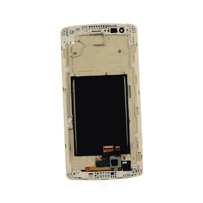imágenes para Oro Panel de Visualización de la Pantalla Del Monitor LCD + Pantalla Táctil Digitalizador Del Sensor Lente de cristal Con Bisel Del Capítulo Para LG D855 G3 D850