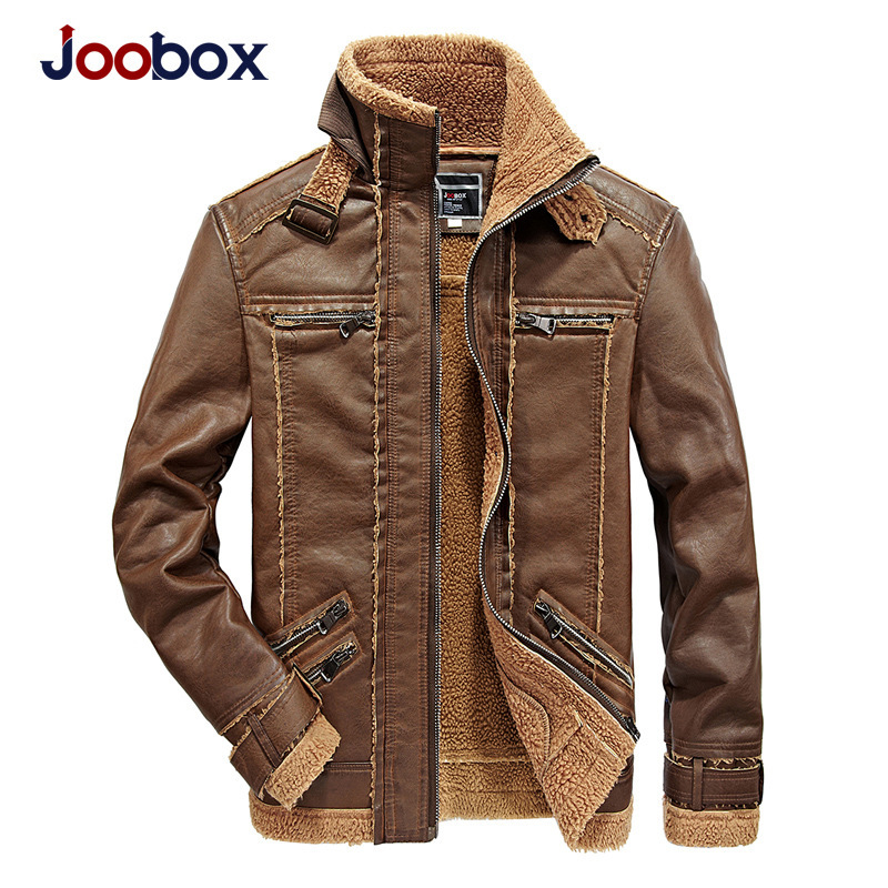 JOOBOX Brand Motorcycle Leather Jackets Men Autumn and Winter Leather Clothing Men Leath ...
