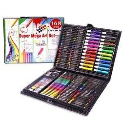 168pcs Drawing Art Set School Painting Pen Marker Watercolor Brush Pen For Kids Gift Box Art Supplies