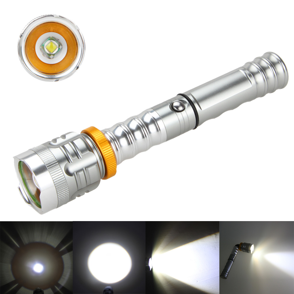 Zoomable 3000LM XML T6 LED 90 degree Rotation Magnetic Flashlight Torch Lamp Light+3000mAh Battery+Charger