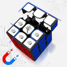 цены MoYu GuoGuan YueXiao Magnetic Cube 3x3x3 Puzzle Magic Cube Professional 3x3 Speed Neo Cubes Educational Toy Cubo Magnetico Gifts