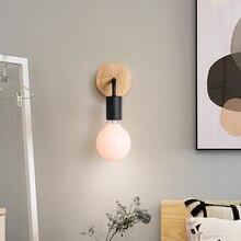hot deal buy modern wall lamps bedroom wood led wall lights vintage black sconces bedside fixtures home lighting luminaire bathroom lamps