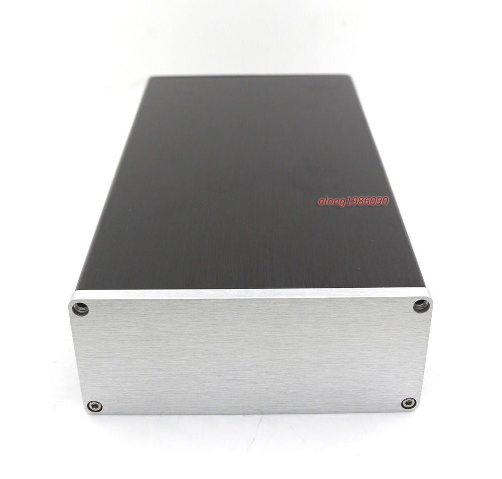 En aluminium Puissance Amp Boîtier Préampli Cas Amplificateur PSU DAC Boîte 130*55*250 MM