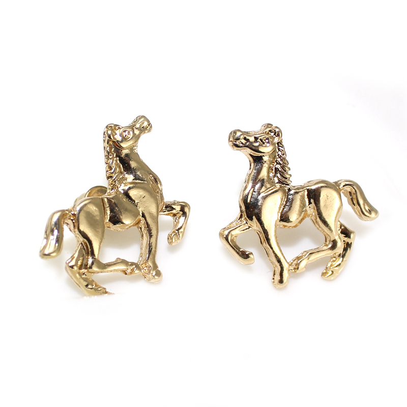 Fashion Horse Earrings Jewelry For Women Gold Silver Plated Earring Studs Cavalo Brincos Penntes In Stud From